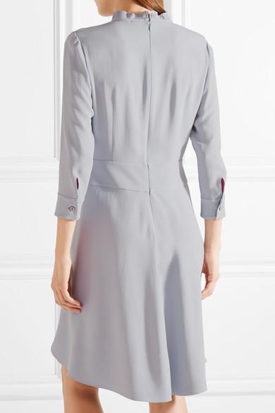 Prada Kleid aus Crêpe mit plissiertem Besatz