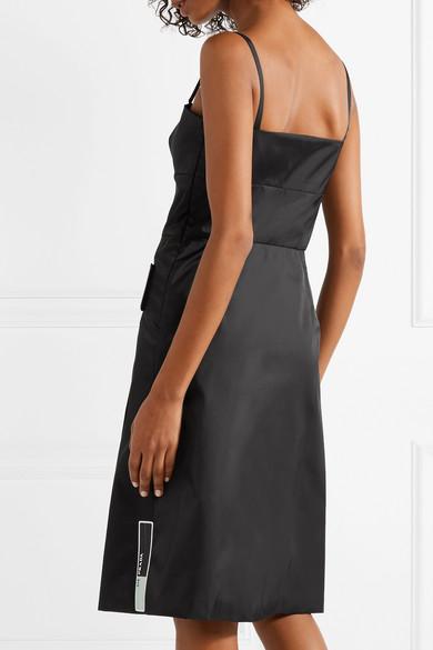 Prada Kleid aus Gabardine mit Gummiapplikationen Größte Anbieter Verkauf Online CzXiH7SBF