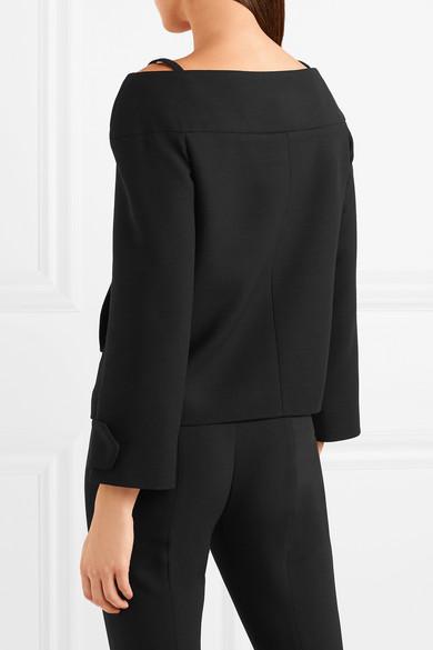 Prada Schulterfreie Jacke aus Wolle