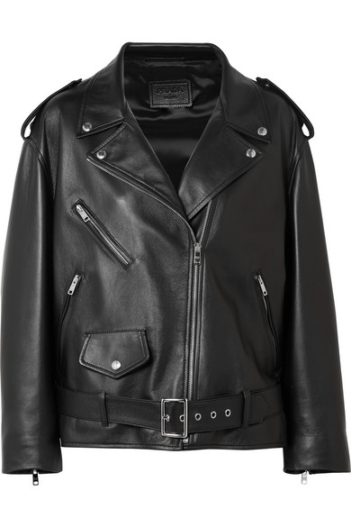 Prada Biker Jacket In Leather