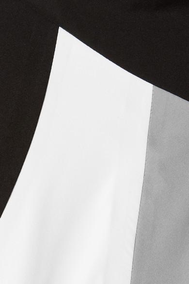 Prada Kapuzenjacke aus Gabardine in Colour-Block-Optik mit Gummiapplikationen