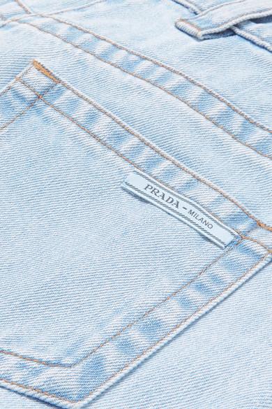 Prada Boyfriend Jeans With Federbesätzen
