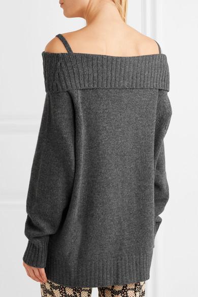 Prada Schulterfreier Cardigan aus einer Woll-Kaschmirmischung