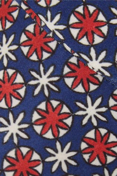 Prada Eng geschnittene Hose aus bedrucktem Twill