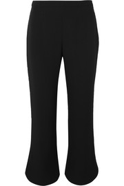 Cropped crepe bootcut pants