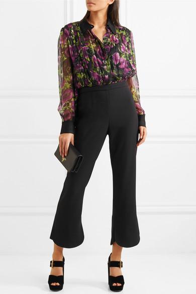 0fa9776cd2162 Cropped crepe bootcut pants