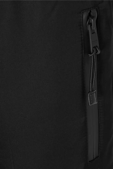 Prada Jogginghose aus Satin mit Lederbesätzen