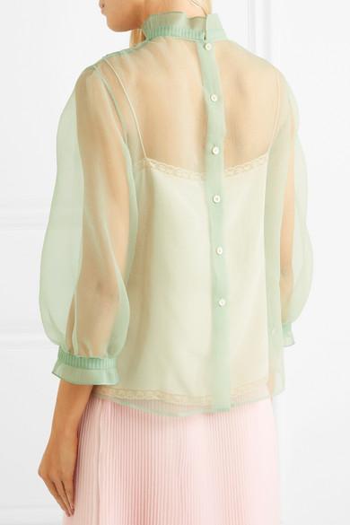 Prada Gerüschte Bluse aus Organza