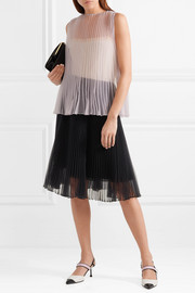 Pleated organza top