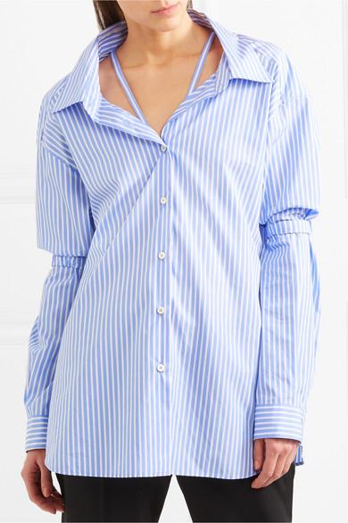 Prada Gestreiftes Oversized-Hemd aus Baumwollpopeline