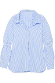Prada Oversized striped cotton-poplin shirt