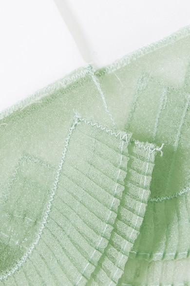 Prada Oberteil aus Baumwollpopeline mit Organzabesatz
