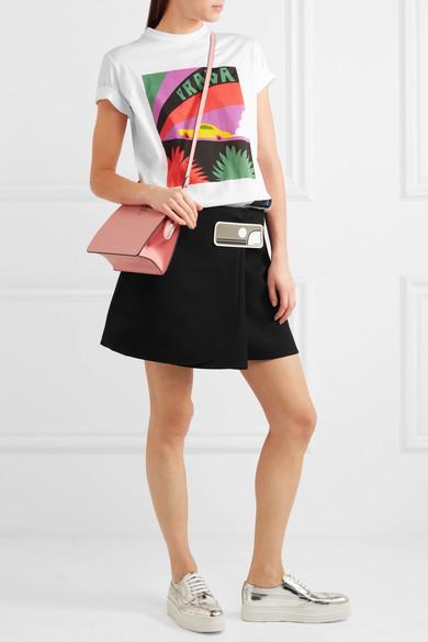 Prada Bedrucktes T-Shirt aus Baumwoll-Jersey