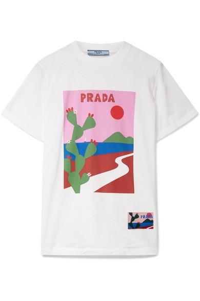 c843842517d5d6 Prada   Printed cotton-jersey T-shirt   NET-A-PORTER.COM
