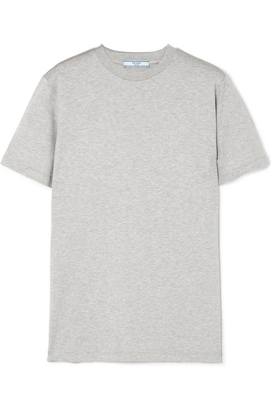 Prada T-Shirt aus Baumwoll-Jersey mit Gummiapplikation