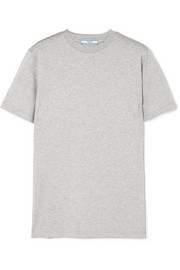 Prada Rubber-appliquéd cotton-jersey T-shirt