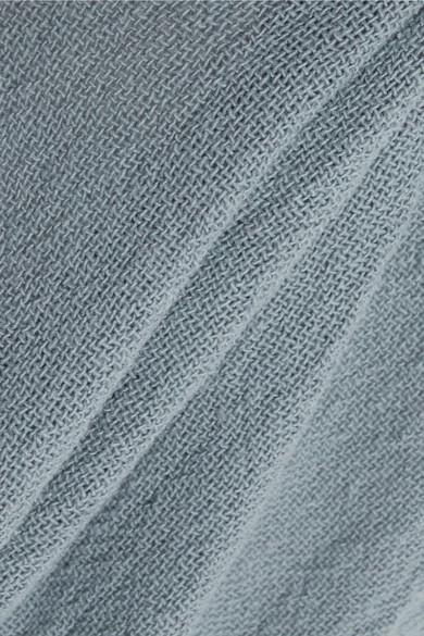 Caravana Kalam Maxikleid aus Baumwoll-Gaze mit Lederdetail