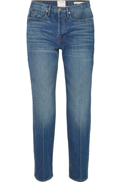FRAME Le High verkürzte Jeans mit geradem Bein