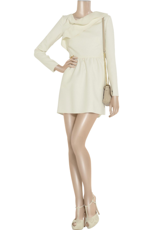 Valentino Wool-crepe mini dress