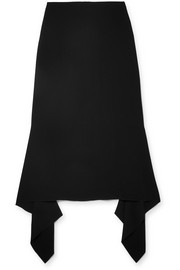 Stevie asymmetric crepe midi skirt