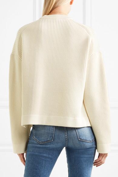 Joseph Gerippter Pullover aus einer Merino-Baumwollmischung