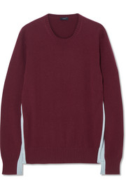 Joseph Paneled two-tone cashmere sweater