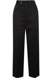 Joseph Birke belted satin wide-leg pants
