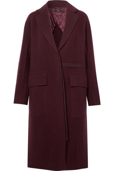 Joseph - Silla Wool And Cashmere-blend Coat - Burgundy