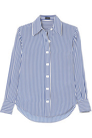 Joseph Garcon striped silk crepe de chine shirt