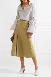 Smith cotton-twill midi skirt