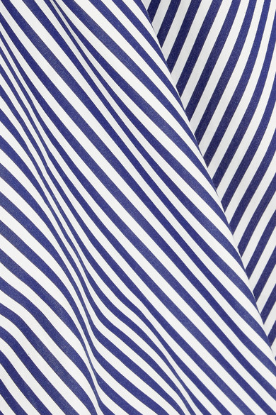 Joseph Carla gestreiftes Hemd aus Baumwollpopeline