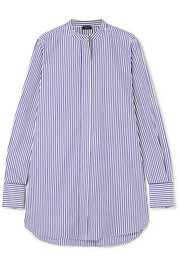 Carla striped cotton-poplin shirt