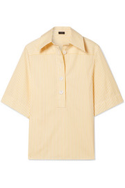 Joseph Griffin striped cotton-poplin shirt
