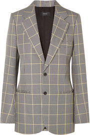 Grimaud Prince of Wales checked cotton blazer