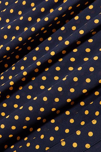 Joseph Crosby Midikleid aus Seiden-Georgette mit Polka-Dots