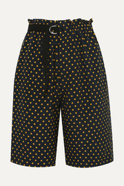 Luis polka-dot silk-georgette shorts