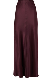 Theo silk-satin maxi skirt