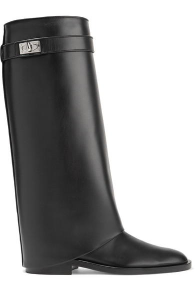 Givenchy Shark Lock kniehohe Stiefel aus Leder