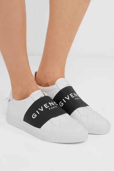 Givenchy Urban Street Slip-ons aus Leder mit Logoprint