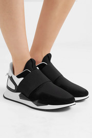 Givenchy Runner Elastic leather and suede-paneled neoprene sneakers