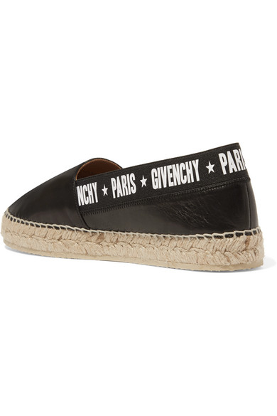 Givenchy Capri Espadrilles In Leather With Logo Print