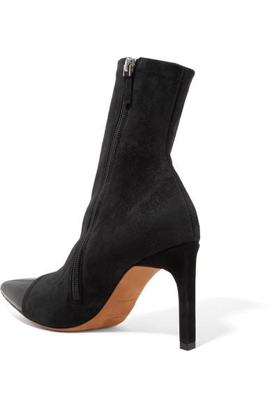 Givenchy Graphic Sock Boots aus Veloursleder mit Lacklederbesatz