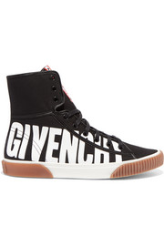 Givenchy Logo-print canvas high-top sneakers