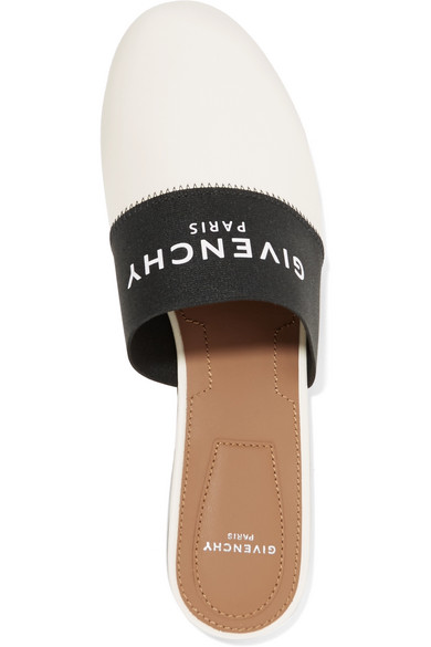 66cce11a0077 Givenchy. Bedford logo-print elastic and leather slippers. £312. Zoom In