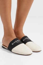 Givenchy Bedford logo-print elastic and leather slippers