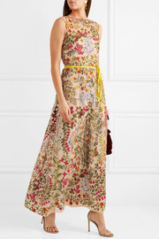 REDValentino Embroidered tulle maxi dress