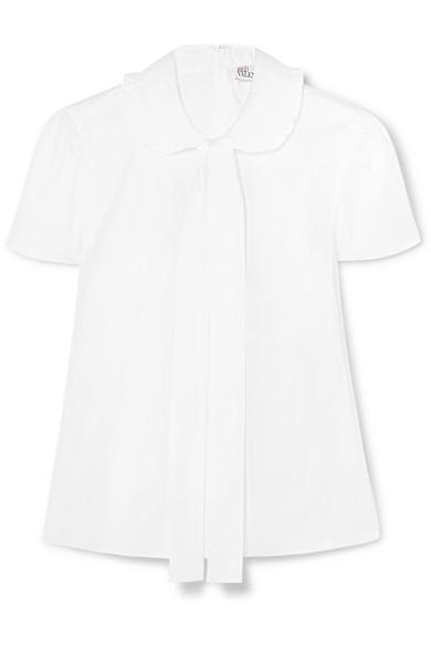 REDValentino Hemd aus Baumwollpopeline mit Schluppe