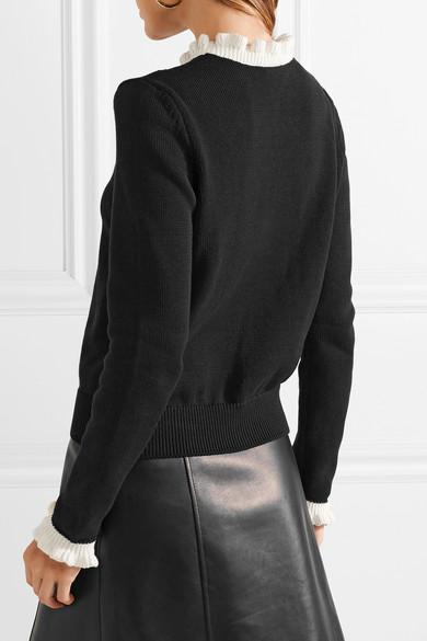 REDValentino Pullover aus Baumwolle mit Rüschen