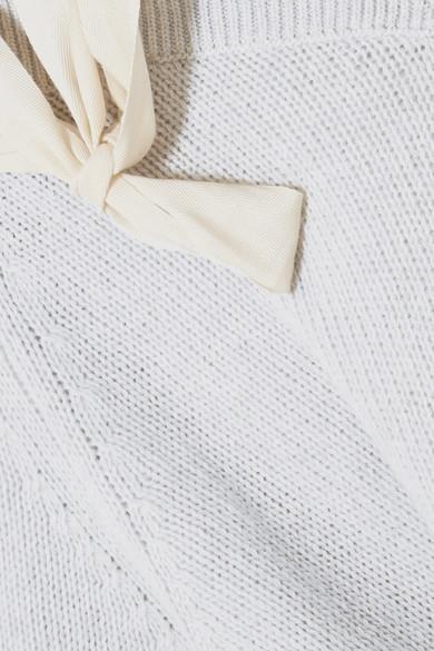 REDValentino Schulterfreier Wollpullover mit Schleifendetail
