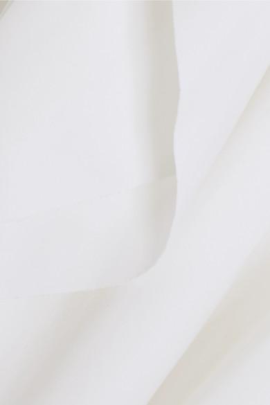 REDValentino Oberteil aus Popeline aus einer Stretch-Baumwollmischung mit Rüschen
